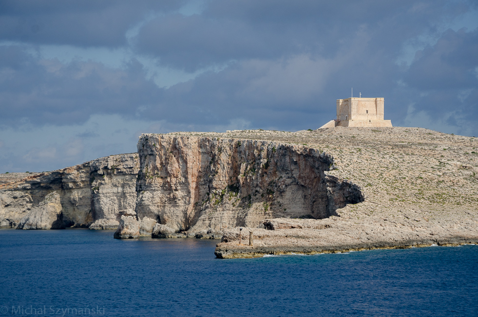 Comino island located in the channel between Malta and Gozo