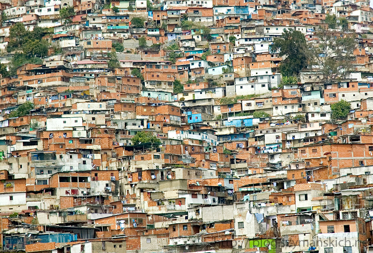 CARACAS, VENEZUELA- CIRCA JANUARY 2006 - Favela of Caracas city. South America, Venezuela