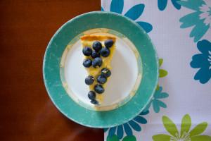 Tarta z borówkami z kremem waniliowo-cytrynowym