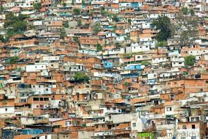 CARACAS, VENEZUELA- CIRCA JANUARY 2006 - Favela of Caracas city. South America, Venezuela