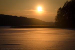 Biegówki na jeziorze Przywidzkim