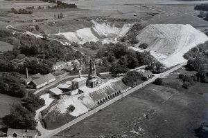 Kopalnia wapienia Mønsted – zdjęcia archiwalne